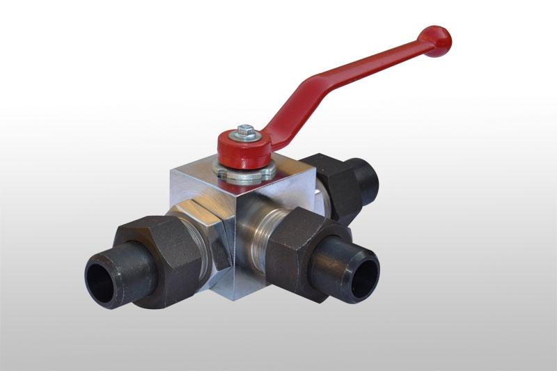 KHB3K外螺纹带焊管三通球阀